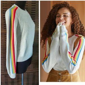 UO COOPERATIVE Rainbow Sleeve pullover Sweater